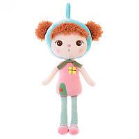Мягкая игрушка текстильная кукла для девочки Metoys Keppel Redhead 46 см Розовая (47147)