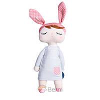 Мягкая игрушка текстильная кукла сплюшка для девочки Metoys Angela Gray 34 см Серая (47077)