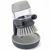 Щетка для мытья посуды с дозатором для моющего средства, фото 1