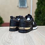 Женские кроссовки Louis Vuitton (черно-коричневые) 20080, фото 8