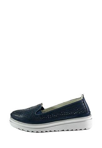 Мокасины женские Allshoes L1880-1 темно-синие (36), фото 2