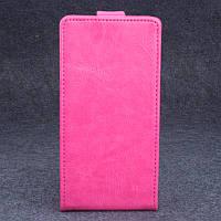 Чехол флип для Lenovo A536 розовый