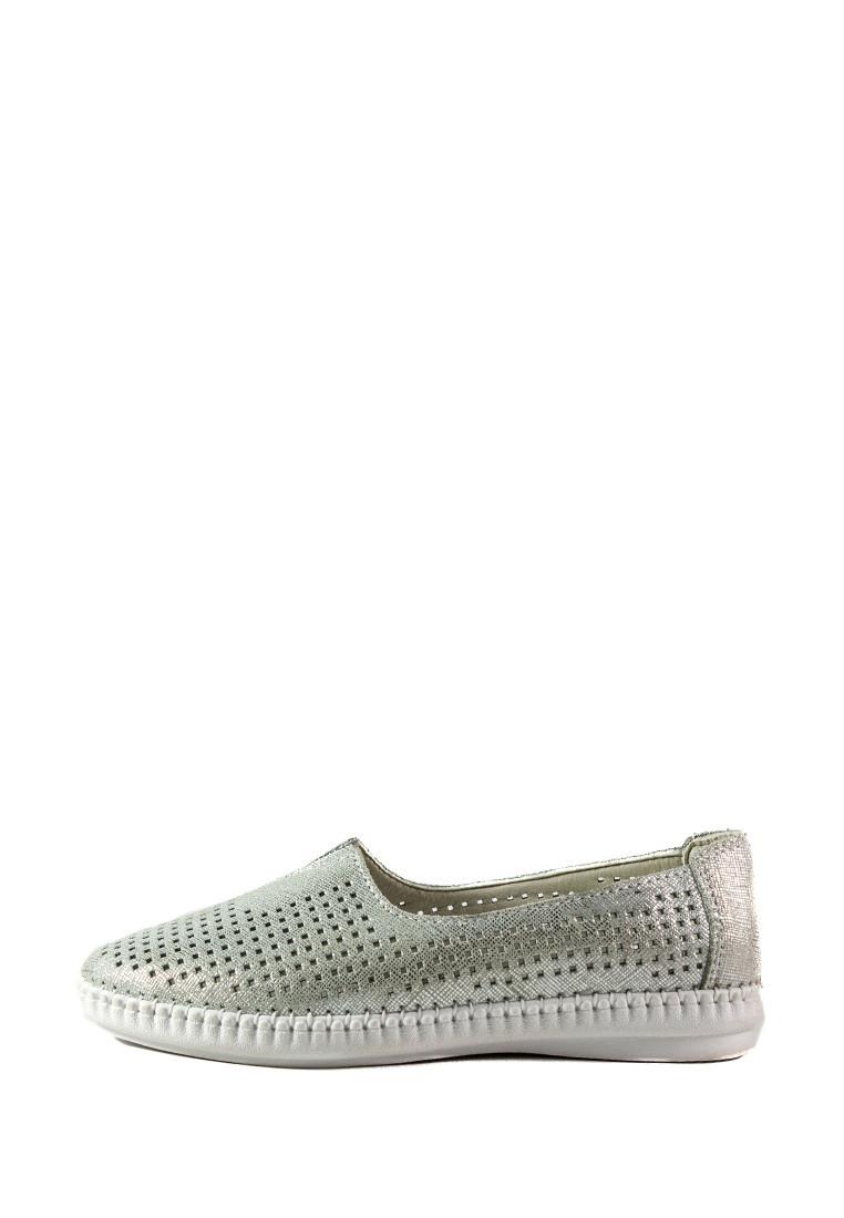 Мокасины женские Allshoes 2250-2 серебряные (36)