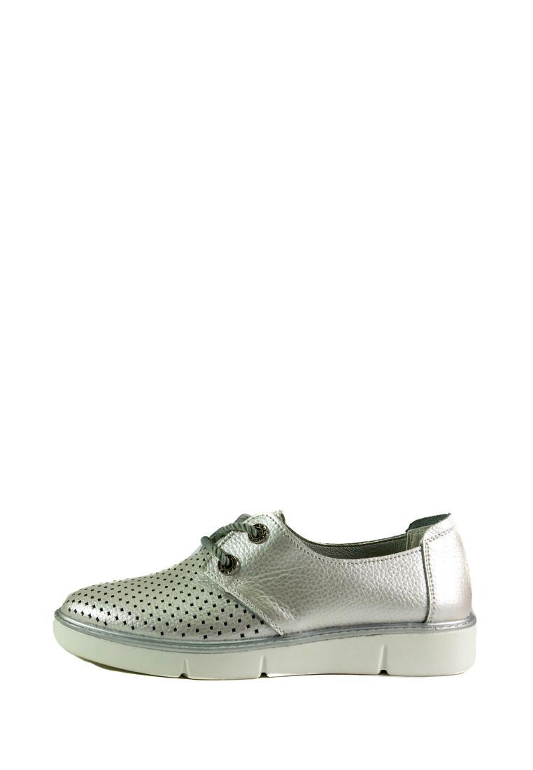 Мокасіни жіночі Allshoes срібний 16848 (40)