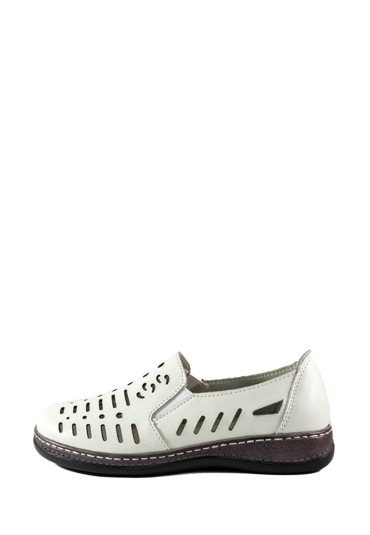 Мокасины женские Allshoes 203-8733 белые (36)