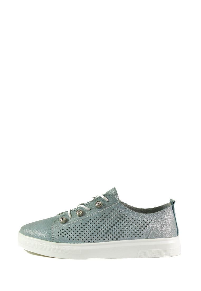 Мокасины женские Allshoes 18688-1K серебряные (36)