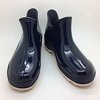 Резиновые тапочки галоши женские сменная обувь на работу синий