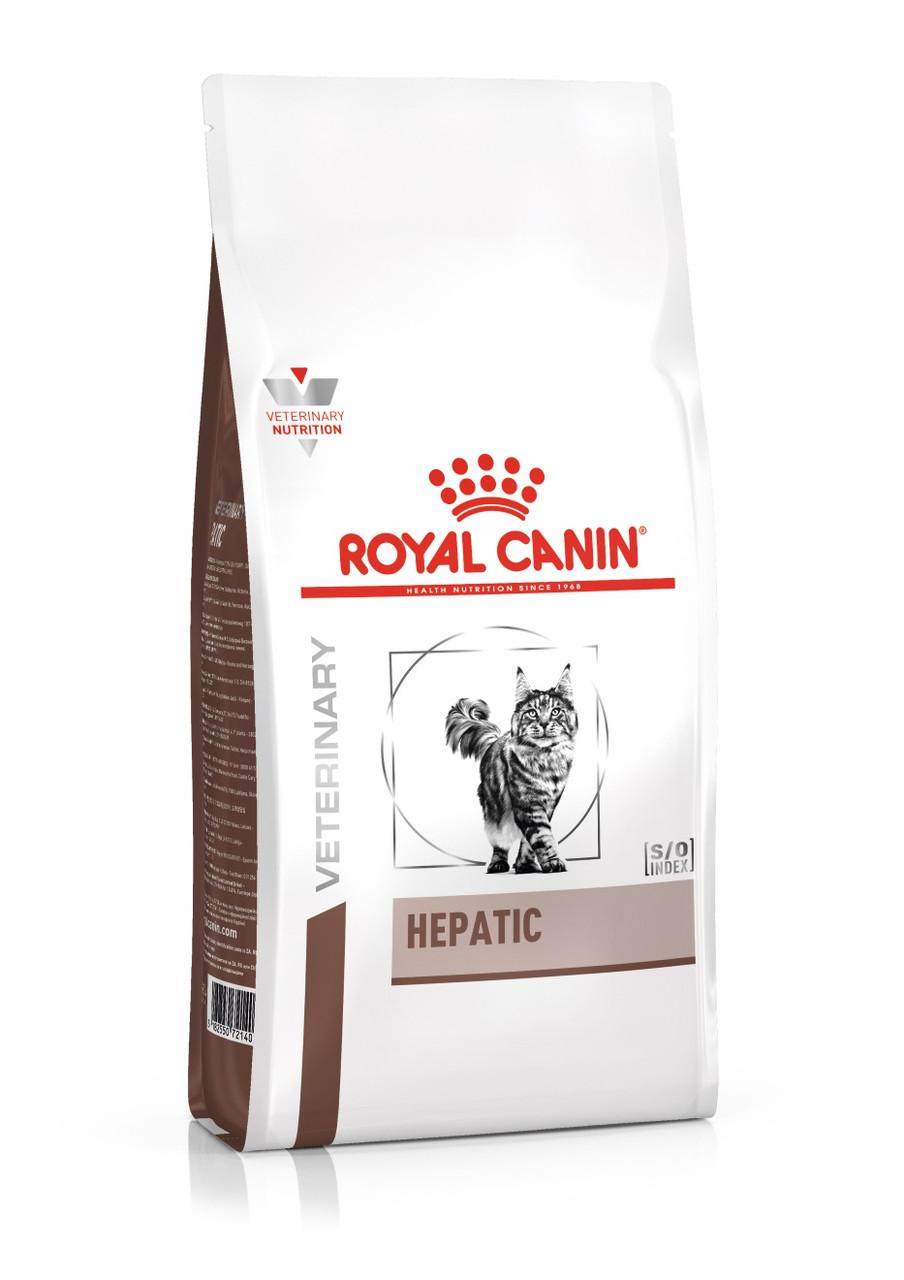 Лечебный сухой корм для кошек Royal Canin Hepatic при заболеваниях печени 2 кг