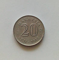 20 сенов Малайзия 1988 г., фото 1