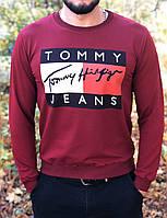 Мужской красный свитшот с принтом Tommy Hilfiger