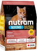 Nutram (Нутрам) S1 Sound Kitten Сухой Холистик корм для котят 5,4 кг