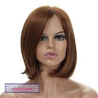 Парик без челки из натуральных волос на сетке - система Antonia HH каштановый цвет