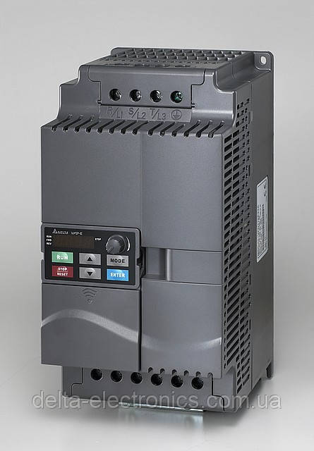 Перетворювач частоти Delta Electronics, 7,5 кВт, 460В,3ф.,векторний, з вбудованим ПЛК,VFD075E43A