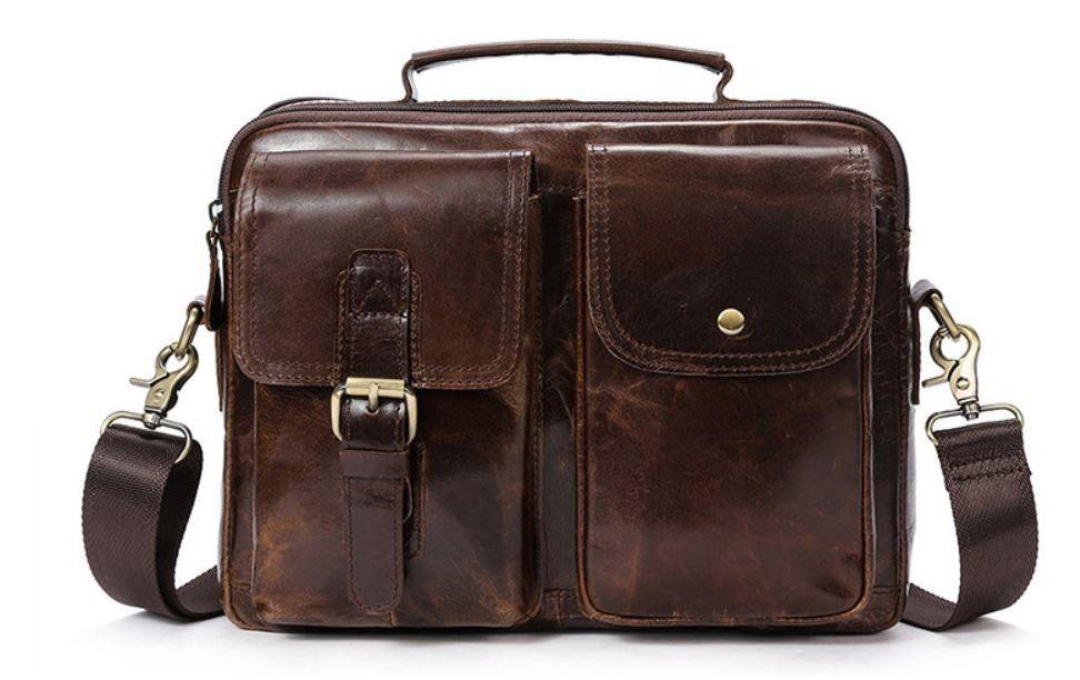 Сумка горизонтальная мужская Vintage 14693 Коричневая, Коричневый