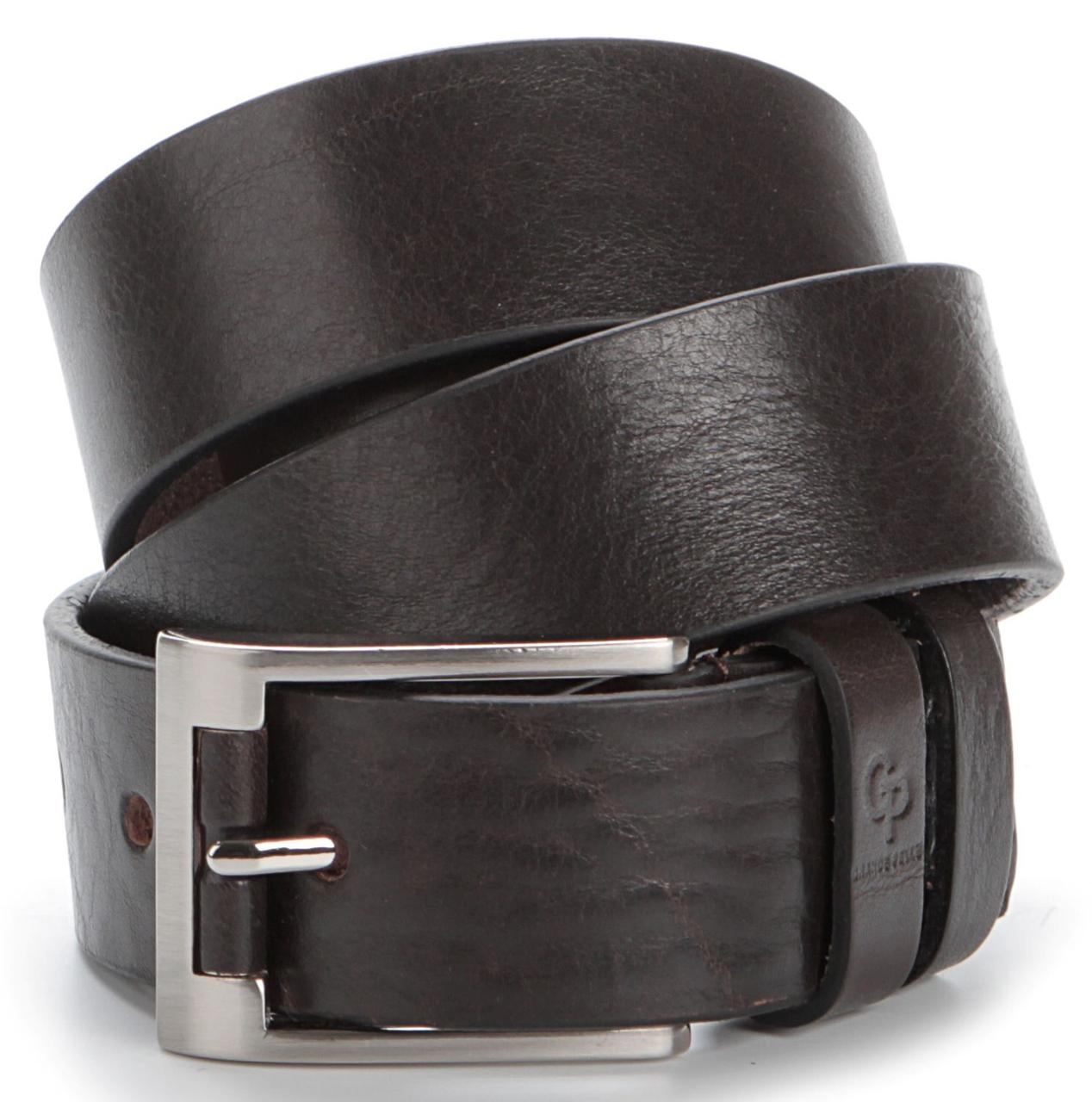 Мужской элитный кожаный ремень GRANDE PELLE 00776 Коричневый, Коричневый