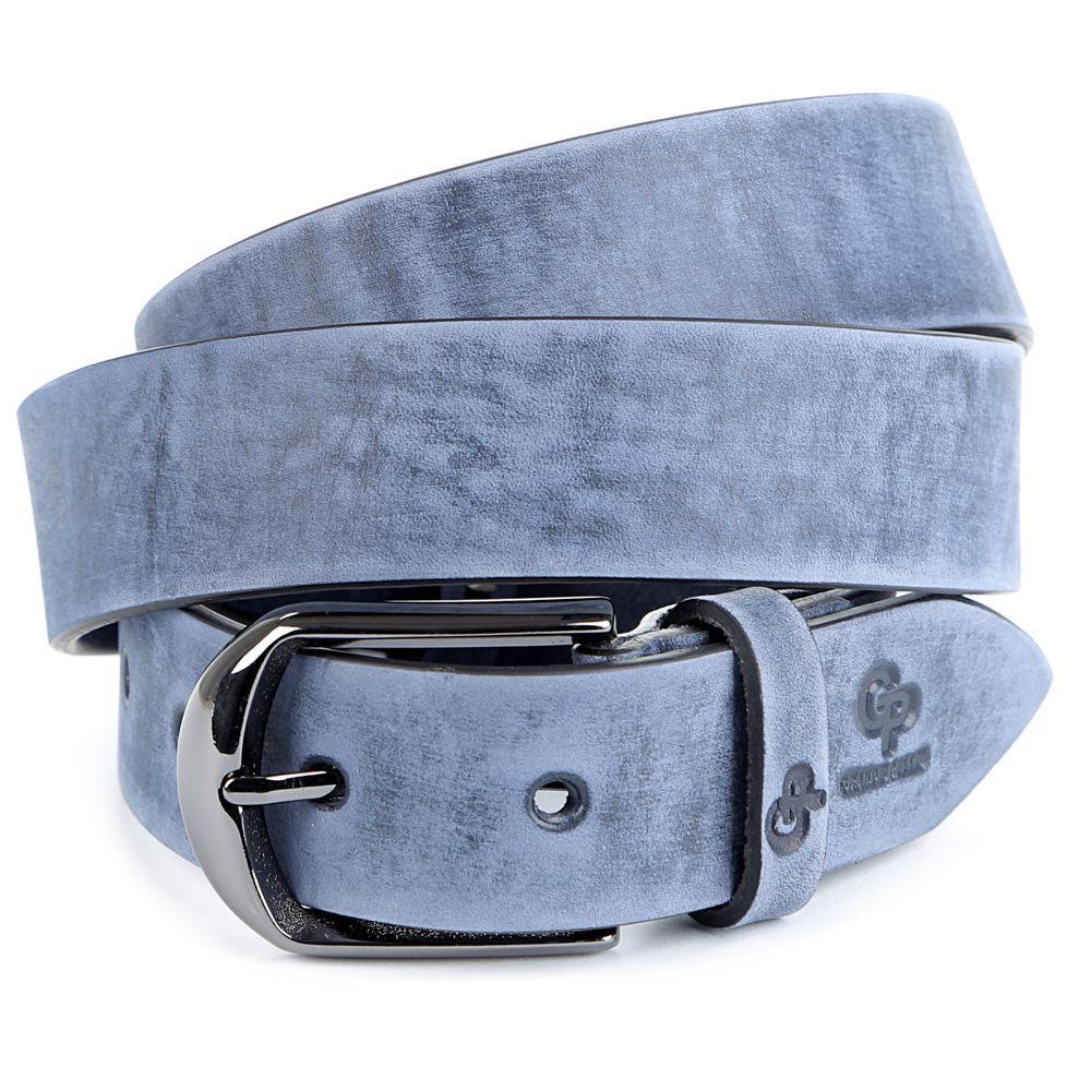 Ремень GRANDE PELLE 00972 кожа Синий, Синий