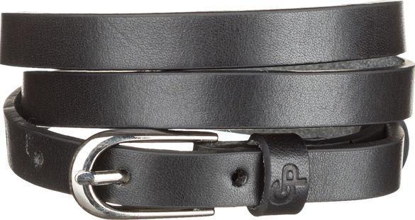 Ремень женский Grande Pelle 11072 тонкий Черный, Черный