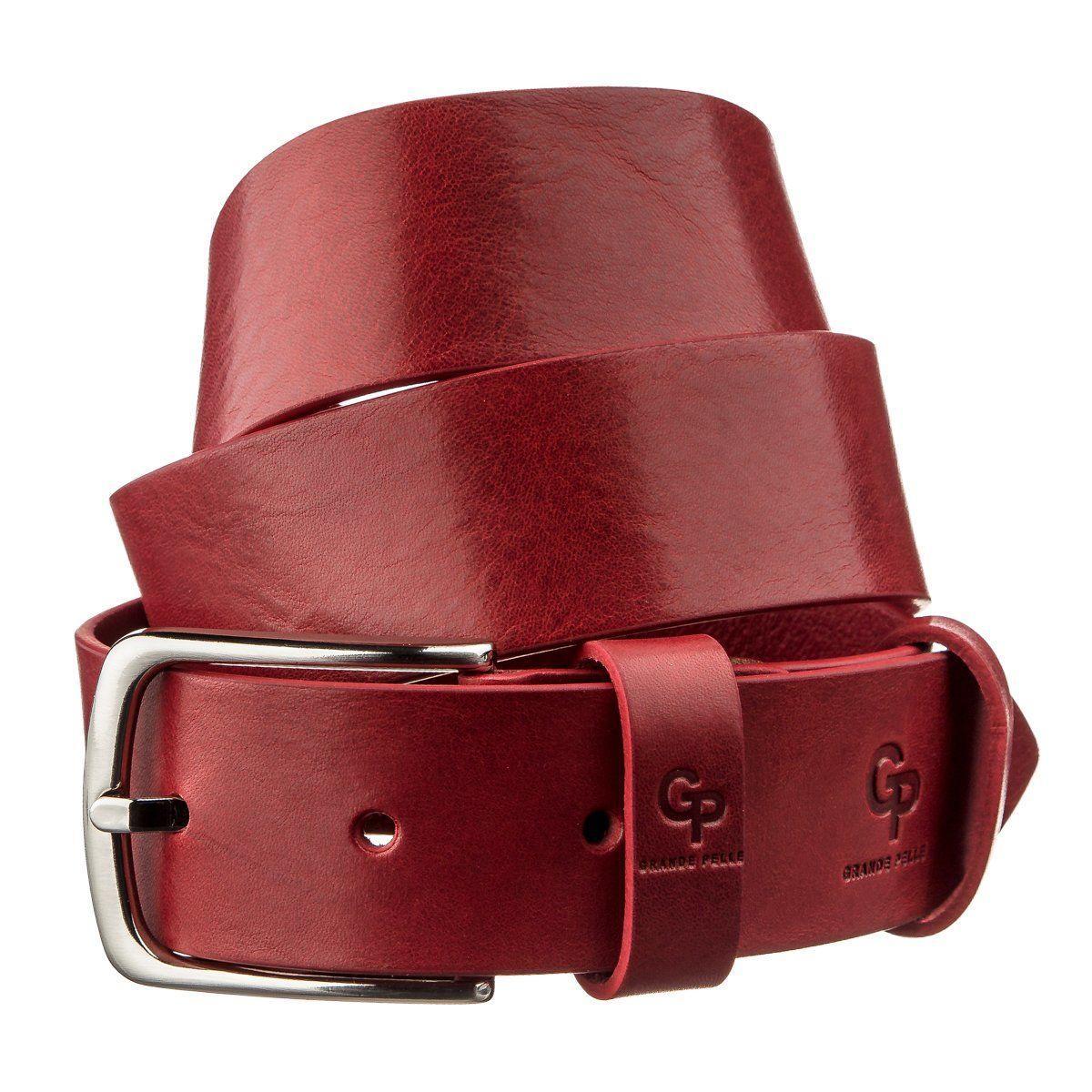 Ремень женский кожаный GRANDE PELLE 11262 Красный, Красный