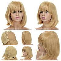 Парик каре из натуральных волос на сетке - система Katie HH цвета блондин