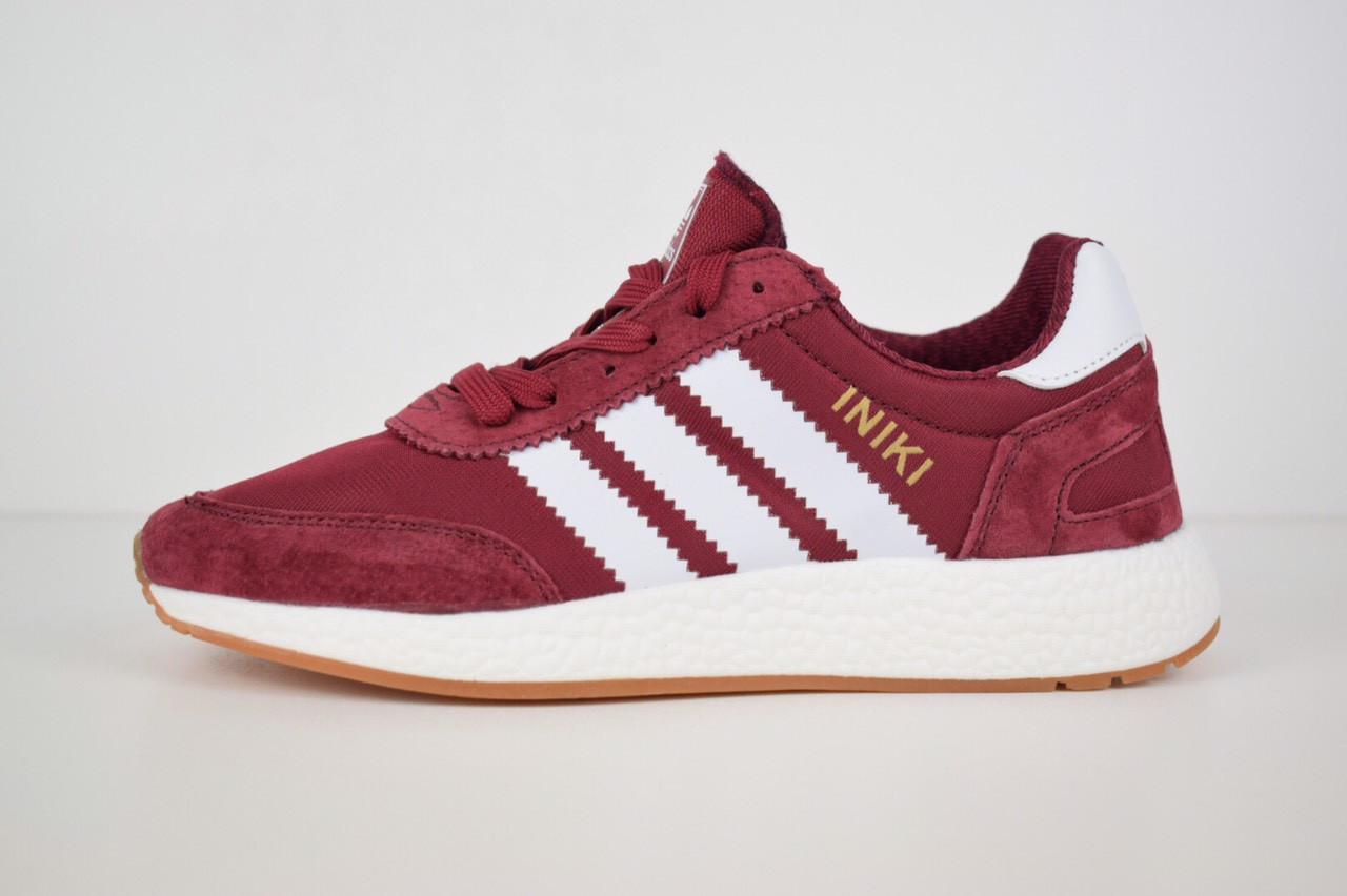 Женские кроссовки Adidas INIKI (бордовый) 2793