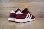Женские кроссовки Adidas INIKI (бордовый) 2793, фото 2