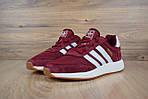 Женские кроссовки Adidas INIKI (бордовый) 2793, фото 4