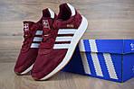 Женские кроссовки Adidas INIKI (бордовый) 2793, фото 5