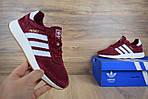 Женские кроссовки Adidas INIKI (бордовый) 2793, фото 6