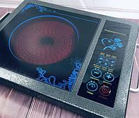 Инфракрасная плита Domotec MS-5842, Мощность 2000 Ватт, Сенсорное управление Black, фото 1