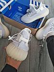 Чоловічі кросівки Adidas Yeezy Boost 350 v2 Static Reflective (білі) - 369TP, фото 4