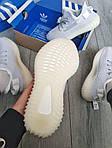 Чоловічі кросівки Adidas Yeezy Boost 350 v2 Static Reflective (білі) - 369TP, фото 3