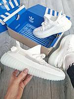 Мужские кроссовки Adidas Yeezy Boost 350 v2 Triple White (белые) - 366TP