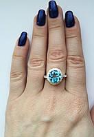 Серебряное кольцо с топазом Светик, фото 1