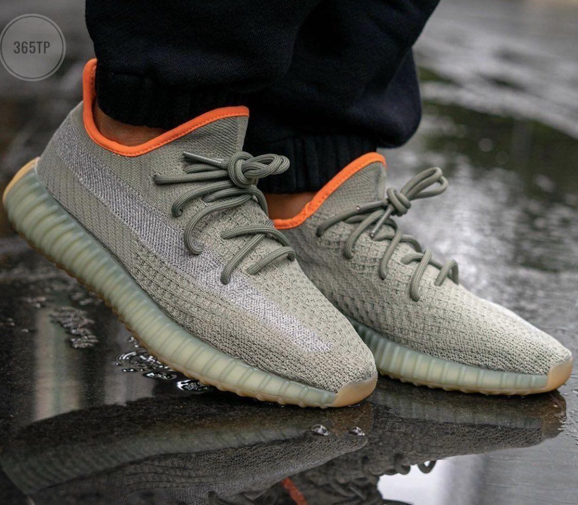 Мужские кроссовки Adidas Yeezy Boost 350 v2  «Desert Sage» - 365TP