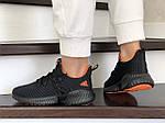 Женские кроссовки Adidas (черно-оранжевые) 9251, фото 4