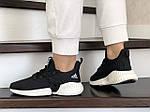 Женские кроссовки Adidas (черно-белые) 9252, фото 4