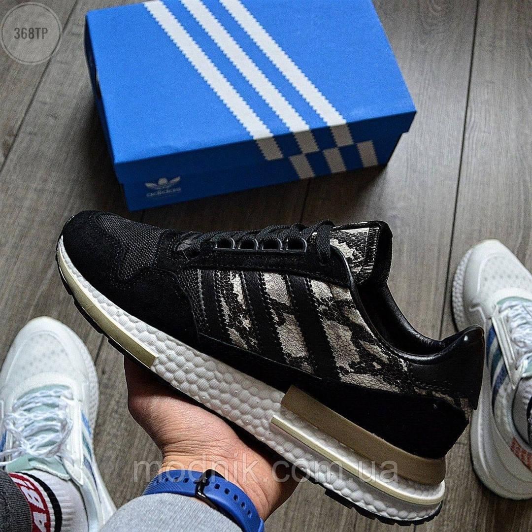 Мужские кроссовки Adidas ZX 500 (черные) 368TP