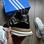 Мужские кроссовки Adidas ZX 500 (черные) 368TP, фото 4
