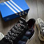 Мужские кроссовки Adidas ZX 500 Commonwealth (черные) 367TP, фото 7