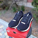 Мужские кроссовки Puma Hybrid (черно-белые) 10088, фото 4