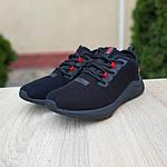 Мужские кроссовки Puma Hybrid (черно-красные) 10090, фото 4