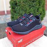 Мужские кроссовки Puma Hybrid (черно-красные) 10090, фото 8