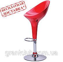 Стул барный PEONY красный пластик AMF (бесплатная адресная доставка)