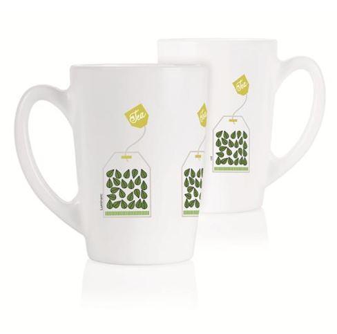 Набор чашек LUMINARC NEW MORNING GREEN TEA LEAVES