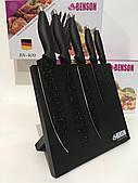 Набор ножей Гранитное покрытие, на магнитной подставке 5 шт Benson (Bn-409)
