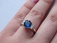 Серебряное кольцо с золотой пластиной, фото 1