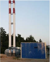 Самонесущая дымовая труба 420 мм, 30 м.