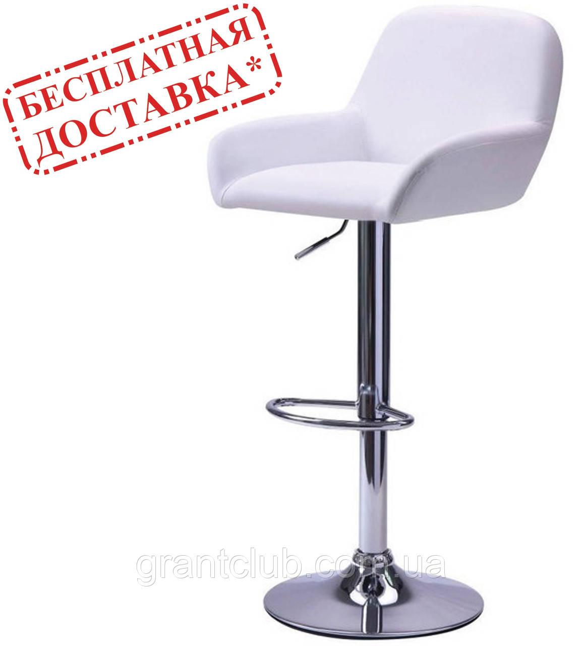 Барный стул JUAN белый кожзам AMF (бесплатная адресная доставка)