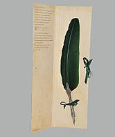 Перо гусиное для каллиграфии Dallaiti Piu01 зеленый