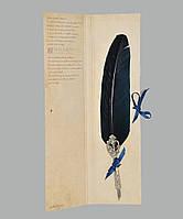 Перо гусиное для каллиграфии Dallaiti Piu02 синий